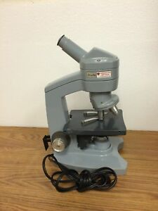 American Optical Sixty Lab Compound Microscope With objectives 10x 43x 100x