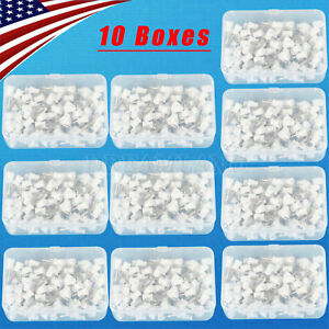 1000x Prophy Cup Rubber Polish Brush Polishing Tooth Latch Firm White 10boxes