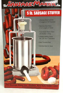 New The Sausage Maker Tsm 5 Lb Meat Stuffer Stainless Steel Cylinder