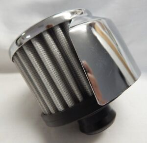 Spectre 3 Chrome Push In 1 1 4 Valve Cover Breather Vent Filter