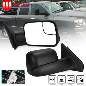 Passenger Right Side Tow Mirror Power Heated For 02 08 Ram 1500 03 09 2500 3500
