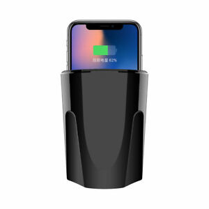 1x Fast Qi Wireless Charger Car Charger Cup Holder For Iphone X 8 Samsung Galaxy