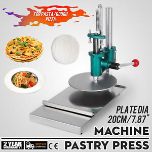 7 8inch Manual Pastry Press Machine Pizza Base Roller Sheeter Stainless Steel