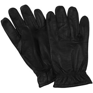 New Tactical Police Law Security Made W Kevlar Leather Extended Cuff Gloves M