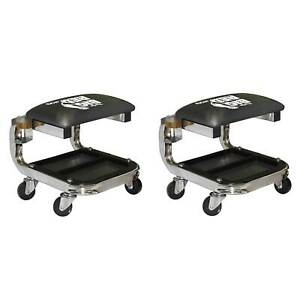 Torin Big Red Tr6340 Padded Rolling Creeper Garage Shop Seat Stool 2 Pack
