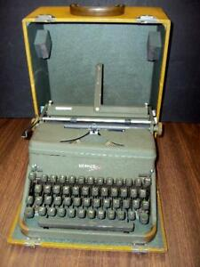 Fully Serviced Hermes 2000 Manual Portable Typewriter case manual switzerland