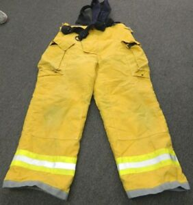 Quaker Turnout Gear Firefighter Bunker Pants W Suspenders Size 34 29