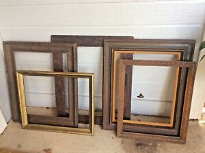 Lot Vintage Wood Picture Frame Frames Wooden Gold Large