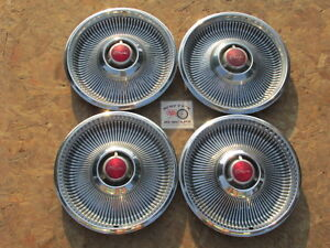 1968 Chrysler Newport New Yorker 14 Wheel Covers Hubcaps Set Of 4