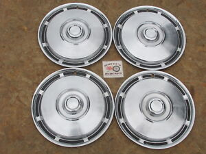 1971 75 International Pickup Truck Travelall 15 Wheel Covers Hubcaps Set 4