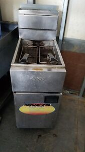 Anets 40 Lb Commercial Gas Fryer Sliverline