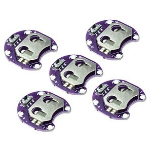 5x Lilypad Sewable Coin Cell Battery Holder Cr2032 2032 Module For Arduino