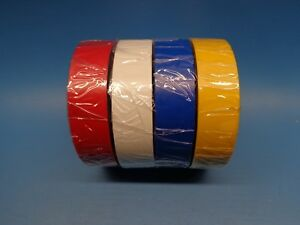 4 Shurtape Ev057 Ul 600v Electrical Tape 3 4in X 66ft Red White Blue Yellow