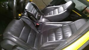 07 09 Vw Jetta Gli Black Leather Seat Set front And Rear