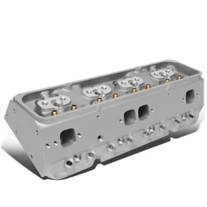 200cc Intake 68cc Straight Aluminum Bare Cylinder Head For Chevy 262 400 Sbc