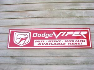 Dodge Viper Dealer service Garage Artsign V 10 Muscle Car speed Parts 1 x4
