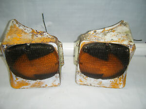Pair Vintage Arrow Turn Signal Stop Tail Light Rat Rod Semi Bus Large School