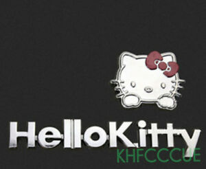 Hello Kitty Auto Car 3d Metal Decal Badge Emblem Sticker Logo Silver K256