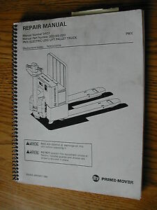 Bt Prime Mover Pmx Qmx Electric Service Repair Manual Low Lift Pallet Truck Jack