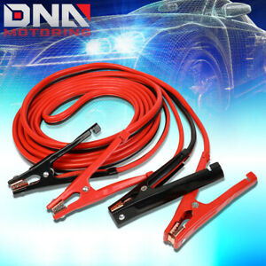 25 500amp Car Battery Booster Cable 4 Gauge Emergency Power Jumper Heavy Duty