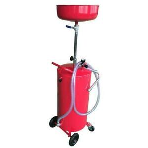 Portable Auto Lift 20 Gallon Waste Oil Drain Air Tank Wheel Hose New