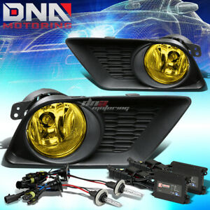Yellow Amber Lens Bumper Fog Light Lamp Bulb 3000k Slim Hid Fit 11 14 Charger