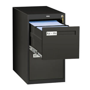 Tennsco Corp 2 Drawer Vertical Letter File Cabinet