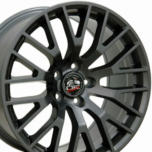 18x9 Gunmetal 2015 Mustang Gt Style Wheels Set Of 4 18 Rims Fit Ford