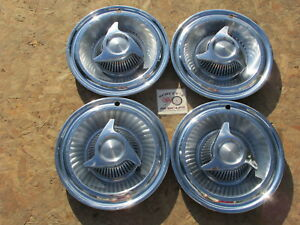 1963 Pontiac Custom Catalina 14 Spinner Wheel Covers Hubcaps Set Of 4