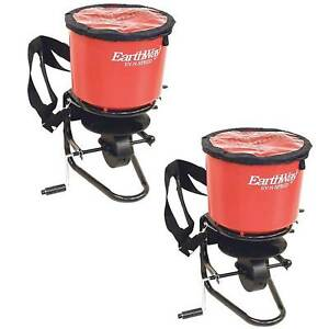 Earthway Hand Crank Garden Seeder Adaptable Seed Fertilizer Spreader 2 Pack