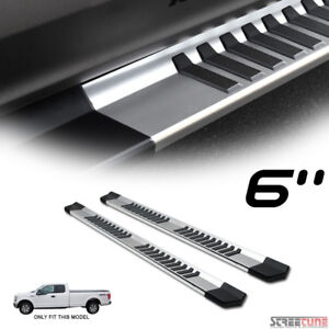 6 Oe Aluminum Silver Side Step Running Boards Jz 15 18 Ford F150 Super Extended