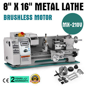 Brushless Motor Mini Metal Lathe Woodworking Tool Automatic Motorized Metal Wood