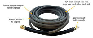 Non marking Pressure Washer Hose 4000 Psi 50 Ft Length 50 Grey With Couplers