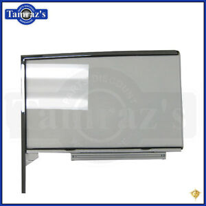 55 57 Chevy Hardtop Front Door Glass Window W Track Frame Clear Rh New