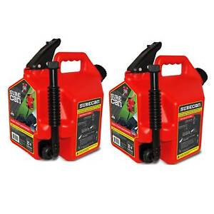 Surecan Self Venting Easy Pour 2 2 Gallon Flow Control Gas Container 2 Pack