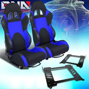 2x Woven Fabric Fully Racing Seat Brackets Fit 99 05 Bmw 3 Series M3 E46 Coupe