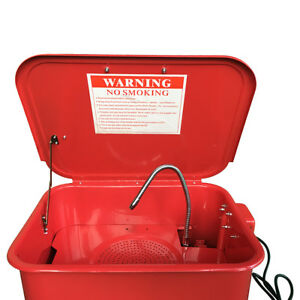 3 5 Gallon Auto Parts Washer Workshop Large Parts Electric Pump Cleaning Tool