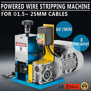 Portable Powered Electric Wire Stripping Machine Comercial Metal Recycle 1 4hp