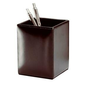 Dacasso A3610 Dark Brown Bonded Leather Pencil Cup