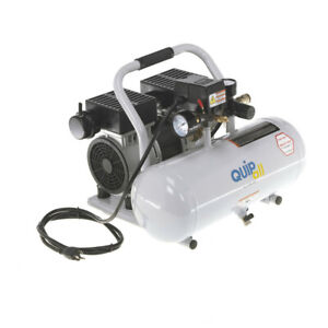 Quipall 2 1 sil al Oil Free Compressor 1 0 Hp 2 Gallon Aluminum Tank New