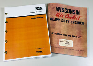 Case 25 4 Xp Trencher Wisconsin Vh4 Vh4d Engine Service Parts Manual Catalog