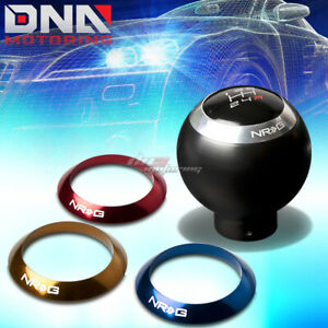 Nrg Anodized Ball Round Sphere Style 5 6 Speed Gear Shifter Shift Knob Black