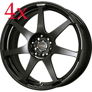 Drag Wheels Dr 33 16x7 4x100 4x114 Black Rims For Crx Mini Cooper 323 Mx5 Accord