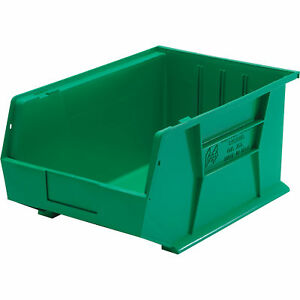 Quantum Storage Heavy Duty Stacking Bin Green Box Of 4