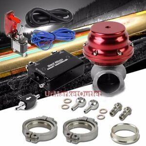 Black Dual Stage Electronic Turbo Charger Boost Control red External Wastegate