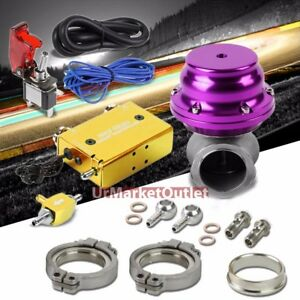 Gold Adjust Electronic Turbo Charger Boost Control purple Clamp on Ext Wastegate