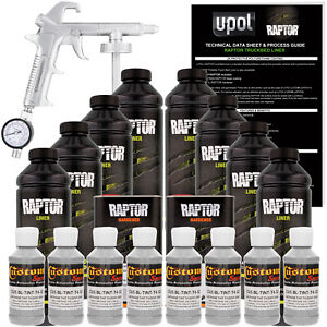 Raptor Dove Gray Urethane Spray on Truck Bed Liner Spray Gun 8 Liters