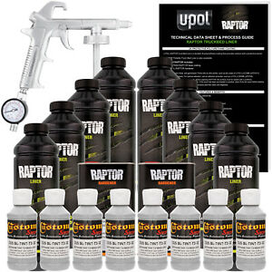 Raptor Mesa Gray Urethane Spray on Truck Bed Liner Spray Gun 8 Liters