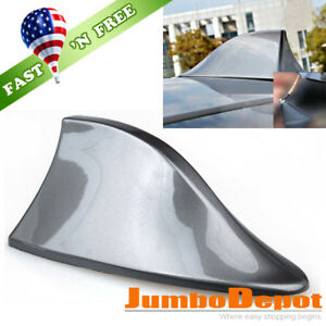 Us Gray Shark Fin Style Roof Mount Fm Am Radio Signal Antenna Aerial Fit Toyota