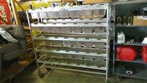 Parts Bin Cart Sliding Boxes Storage Trays Cabinet Nuts Bolts Shelving Shelf